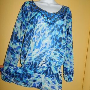 Gorgeous Celine Blouse w/ Beads Womens Small